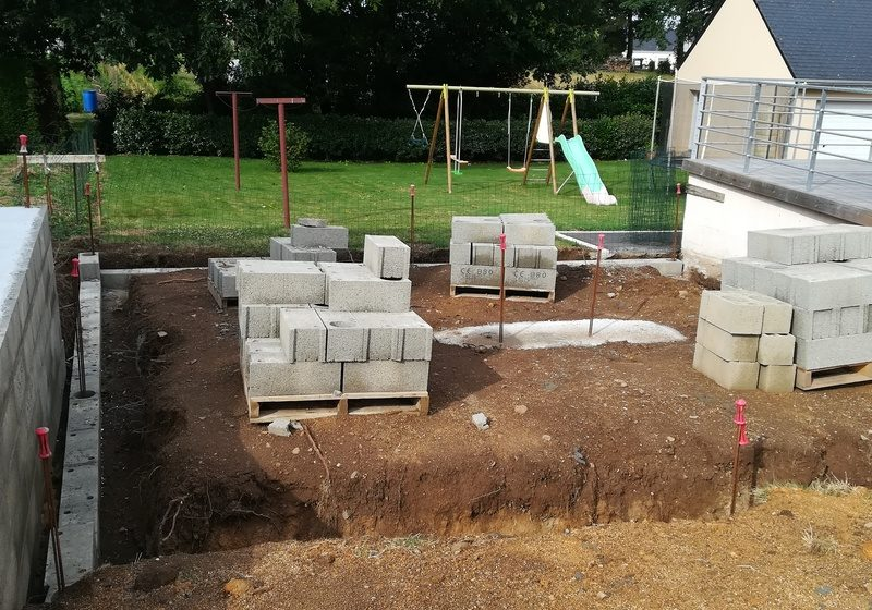 fondation pour extension de maison