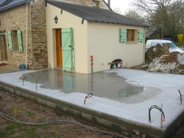 Dalle béton pour extension de maison en Loire-atlantique